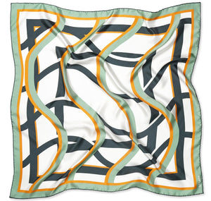 Modernist Silk Scarf Womens Square Silk Twill Scarves