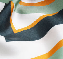 Load image into Gallery viewer, Sésam modernist Italian silk twill scarf closeup