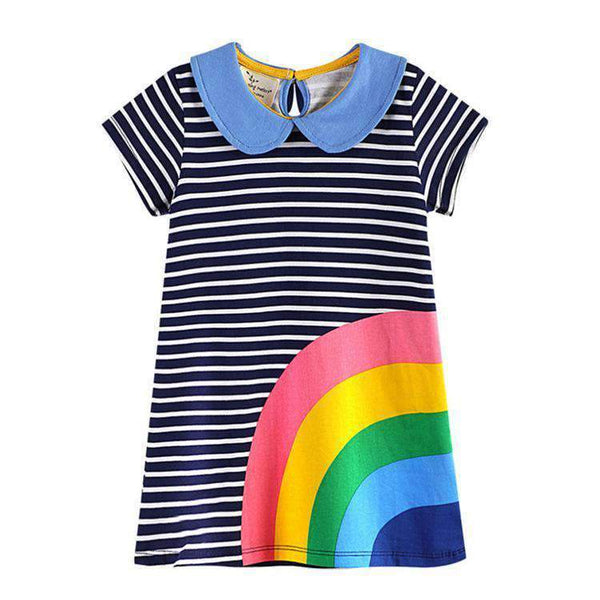 Dress with rainbow