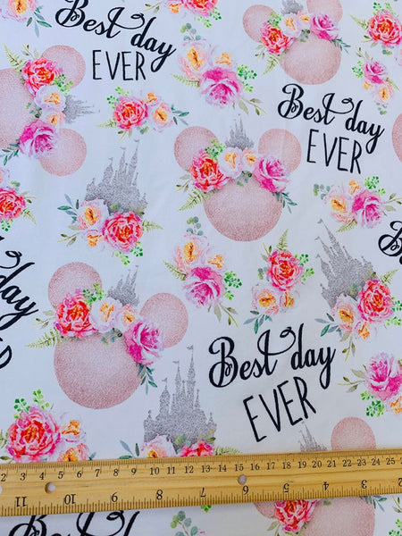 Best Day Ever 1 yard CL knit 260 gsm