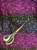 Black purple  Glitter 1 yard in stock