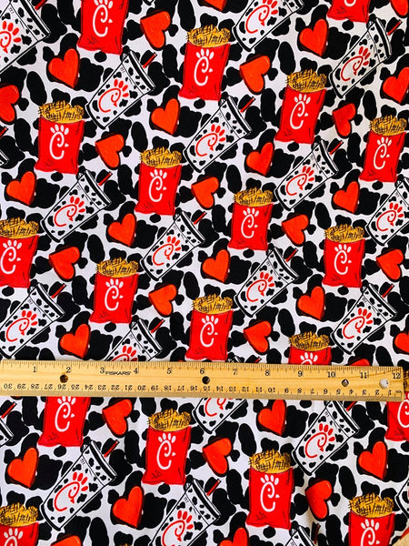 I love Chicken 1 yard CL knit 260 gsm