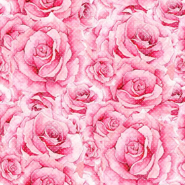 Valentine Collection Roses CL knit , 260 gsm, 1 yard Pre Order