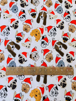 Christmas Puppies 1 yard CL knit