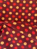 Fall Brown red yellow dots 1 yard