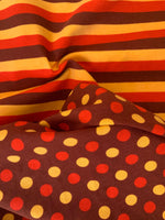 Fall Brown red yellow stripes1 yard