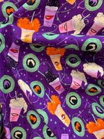 Witches Brew Halloween Knit 1 yard in stock 260 gsm in stock