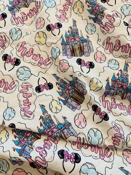 Vacation Magical Castles 1 yard CL knit 260 gsm
