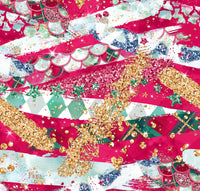Christmas Brush strokes 1 yard in stock
