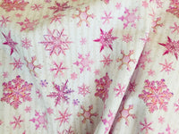 Snowflakes 009 1 yard CL knit 260 gsm in stock