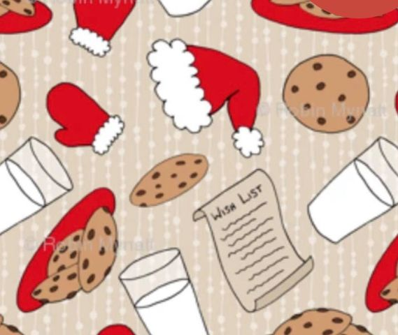 Cookies for Santa 1 yard CL knit 260 gsm