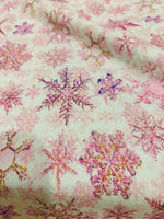 Snowflakes   1 yard CL knit 260 gsm in stock