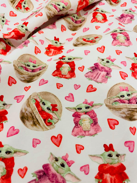 Valentine Love 1 yard CL knit 260 gsm in stock