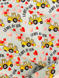 Valentine Boy print 1 yard CL knit 260 gsm