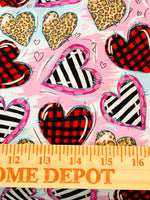Valentine Hearts 1 yard CL knit 260 gsm in stock