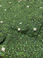 Green  glitter 1 yard CL knit 260 gsm