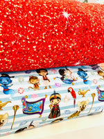 NEW  Red glitter 1 yard CL knit 260 gsm