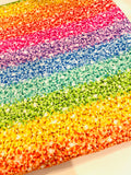 Rainbow glitter New 1 yard CL knit 260 gsm  glitter