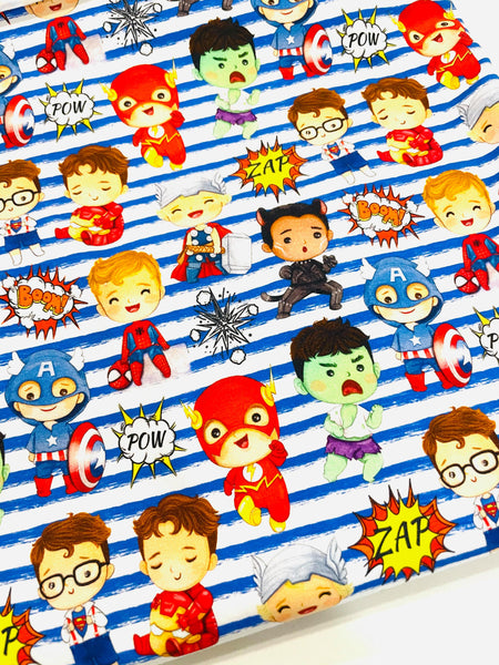 Superheroes CL knit , 260 gsm, 1 yard  in stock