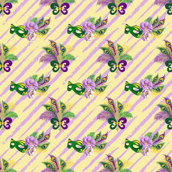 Mardi Gras 01 Collection CL knit , 260 gsm, 1 yard