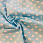 Aqua with white small dots 1 yard aqua with white dots