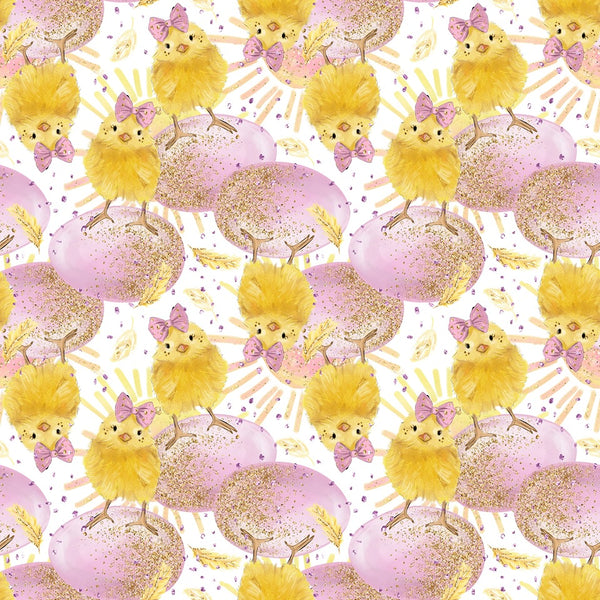 Easter Blooms 1 yard CL knit 260 gsm in stock