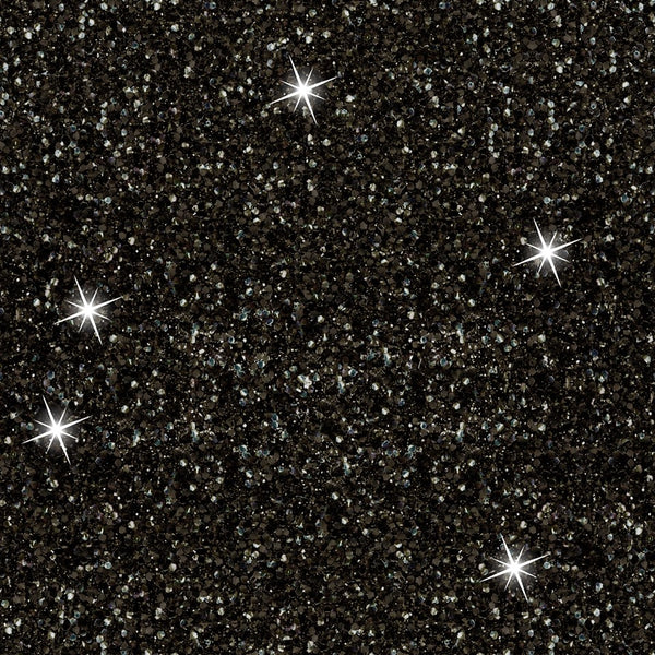 New just arrived Black Faux glitter 1 yard in stock