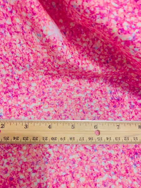 pink faux glitter CL knit , 260 gsm, 1 yard in stock