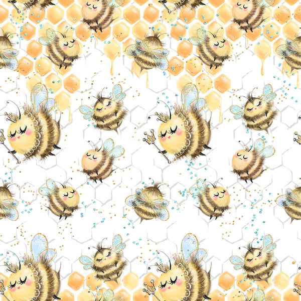 Honey Bee CL knit , 260 gsm, 1 yard