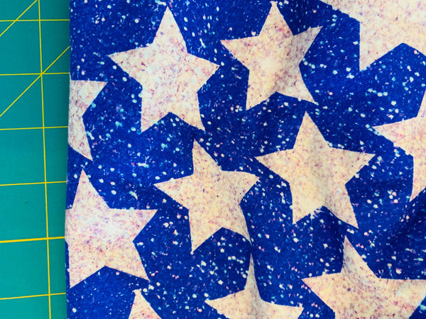 Stars silver CL knit , 260 gsm, 1 yard, in stock