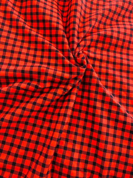 Red and Black buffalo plaid 1 yard