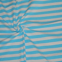"Knit Aqua Stripes 1/2"" 1 yard in stock"