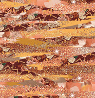 Fall Brush strokes  1 yard CL knit 260 gsm