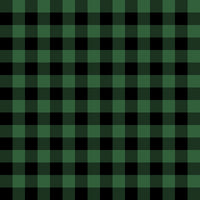 "Plaid Green/black 1"" CL knit 1 yard in stock"