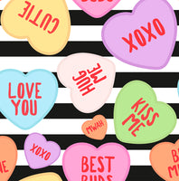 small scale Valentine love Hearts 1 yard CL knit 260 gsm