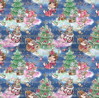 Christmas Fairies  1 yard CL knit 260 gsm