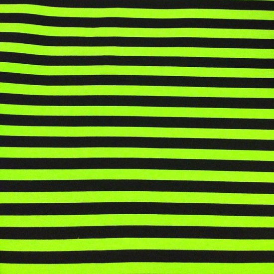 "Knit Monster Green 1/2"" Stripes BLACK AND GREEN"