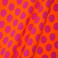 Knit Orange with Pink Dots