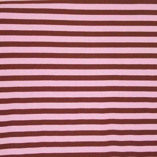"Knit Pink & Brown 1/2"" Stripes"