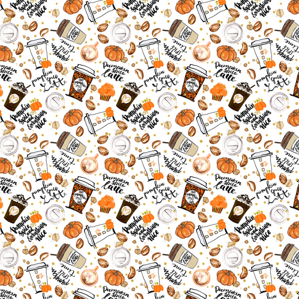 Pumpkin Spice Latte 002 1 yard CL 260 gsm