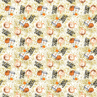 Pumpkin Spice Latte 003  1 yard CL 260 gsm
