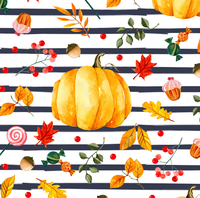 Pumpkin Fall  stripes 1 yard CL knit 260 gsm