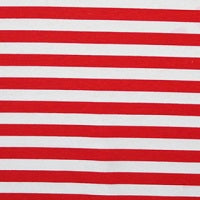 "Knit Red  White Stripes 1/2"" stripes"