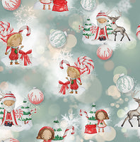 "Elfin"" Around Elf Santa  1 yard CL knit 260 gsm in stock"
