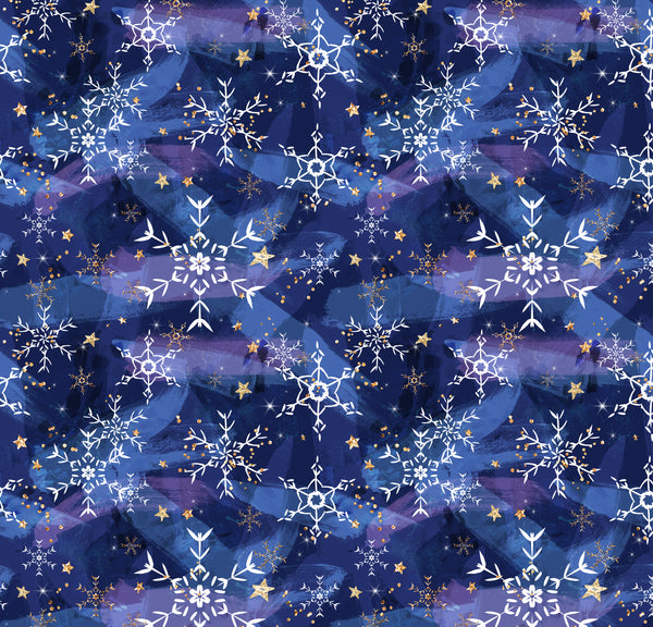 Snowflakes 1 yard CL knit 260 gsm