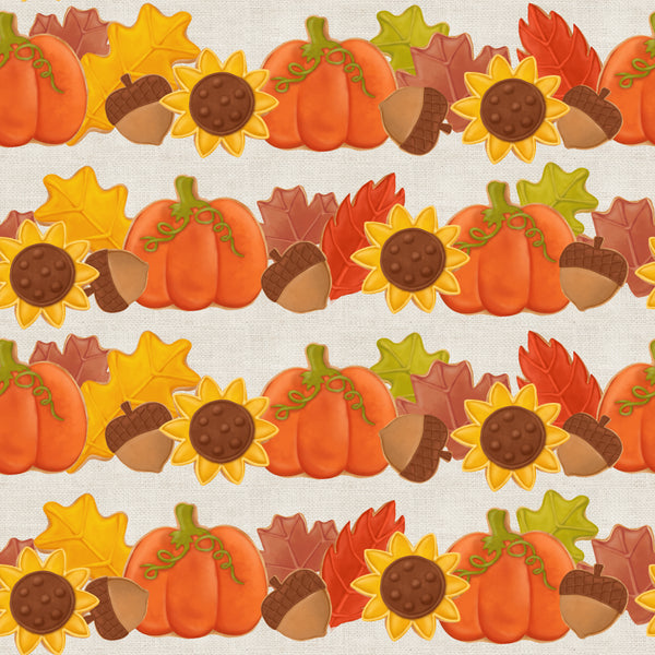 Thanksgiving cookie 003 CL knit , 260 gsm, 1 yard pre order ETA Oct 10-16