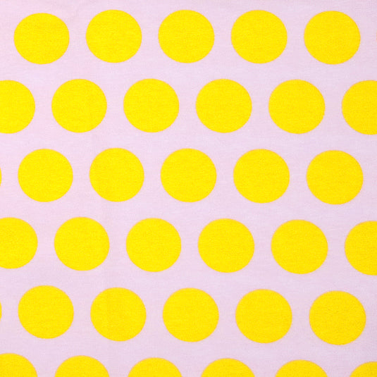 Knit Bright Yellow Dots on Pink