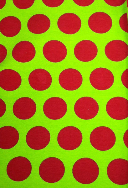 Red and Lime Green Dots