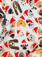 Santa Paws 1 yard CL knit 260 gsm in stock