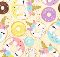 Donuts Unicorns 1 yard CL knit 260 gsm